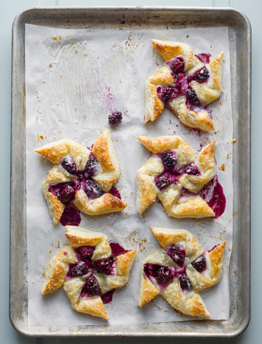 Blackberry pinwheels