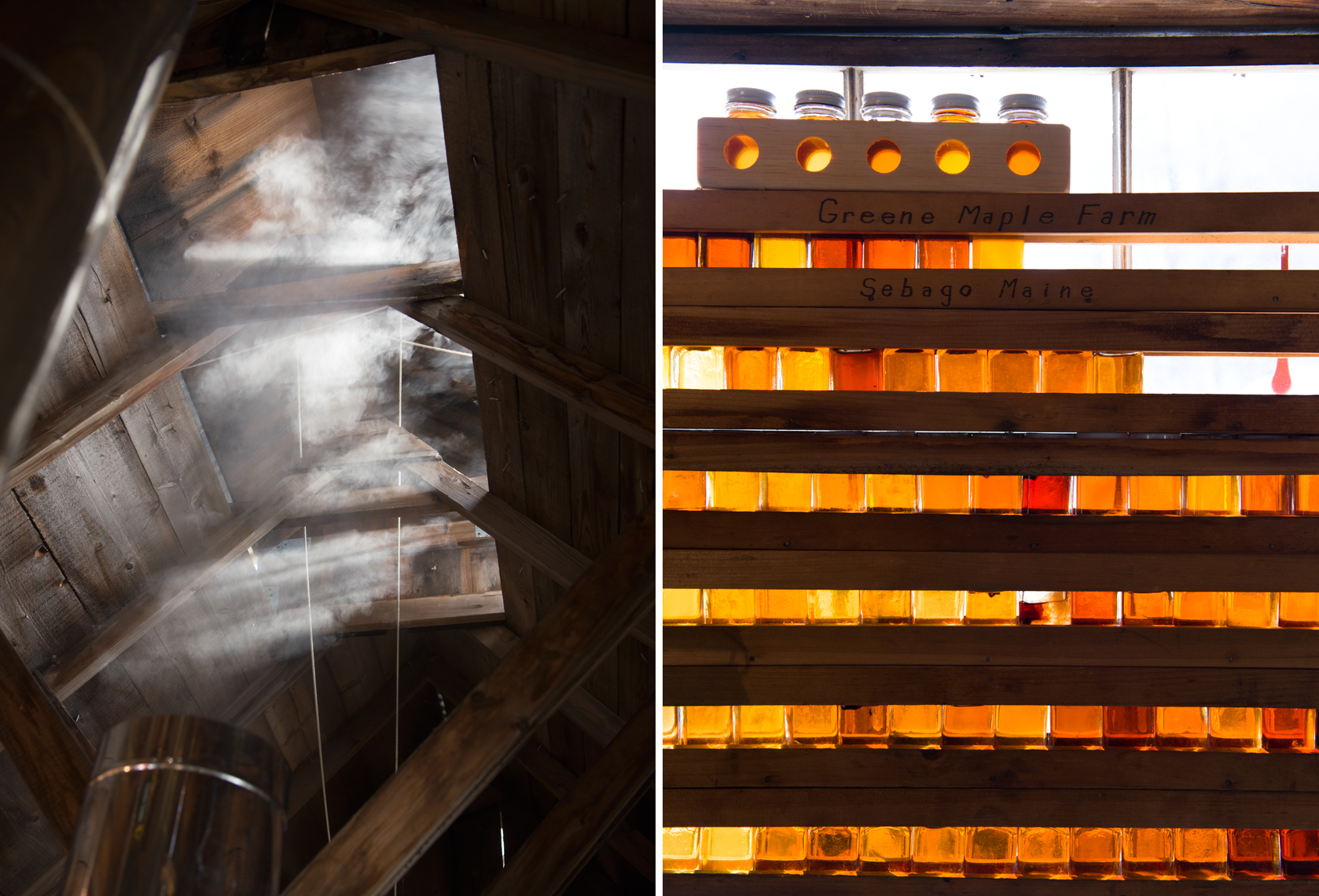maple syrup evaporator and grading