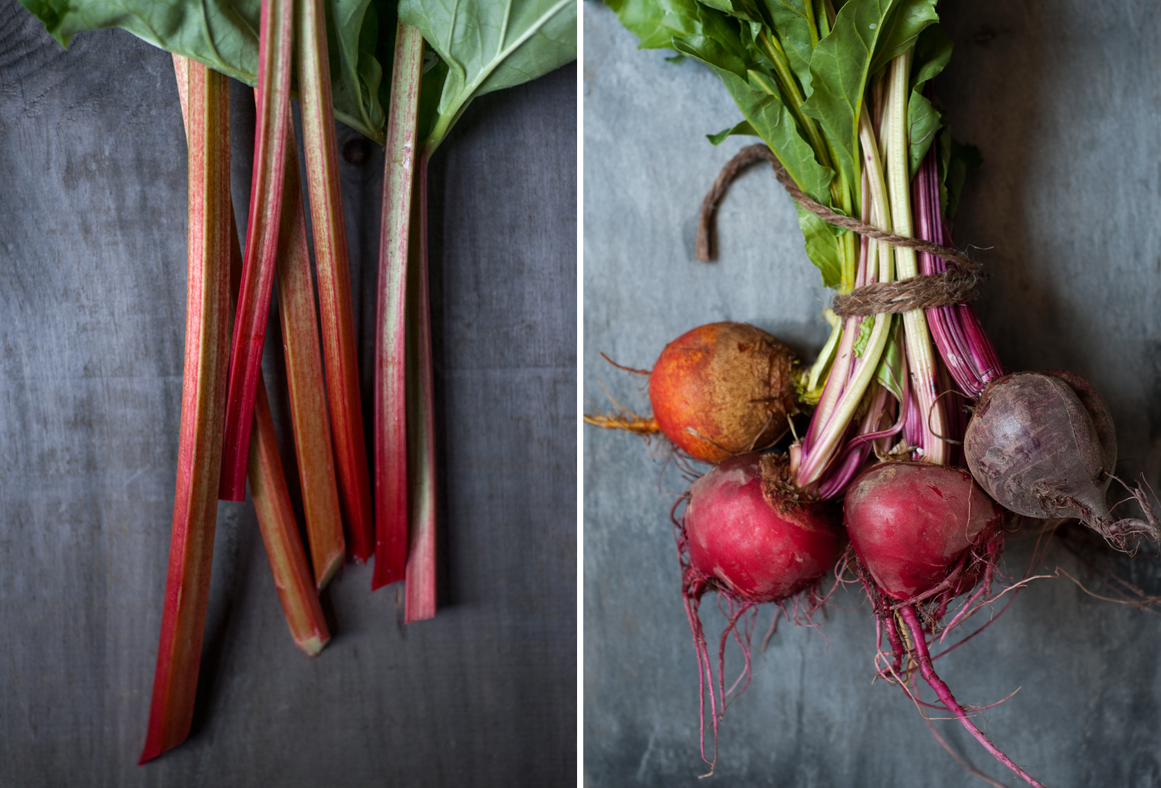 rhubarb and beets